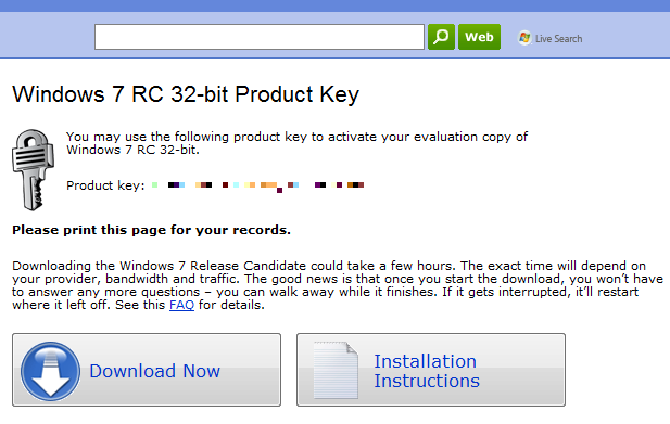 Win 7 Ultimate Product Key 32 Bit.