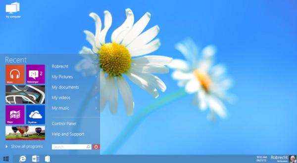 Alternatywny interfejs użytkownika Windows 8