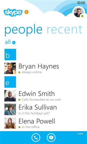 skype WP8