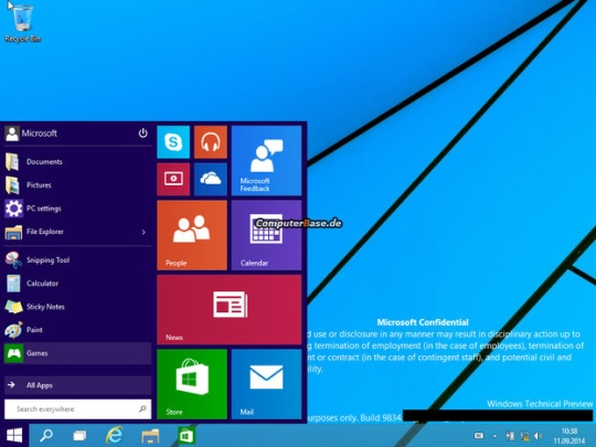 Windows 9 Technical Preview 1