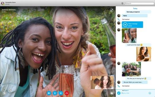 nowy skype - wideo i czat