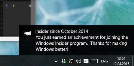 Windows 10 osiągnięcia