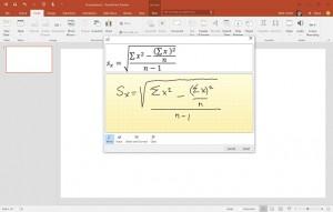 Odręczne wprowadzanie wzorów matematycznych
