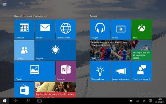 Windows 10 w trybie tabletu