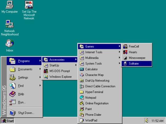 Windows 95 Menu Start