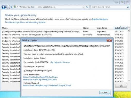 testowa aktualizacja Windows