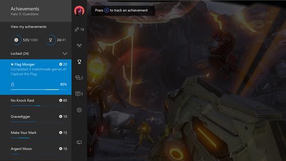 Xbox One: dostęp do osiągnięć