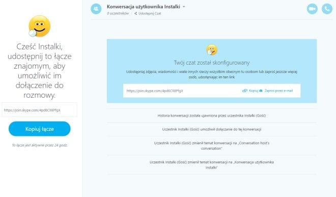 Skype bez zakładania konta