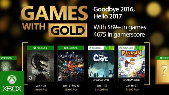games with gold styczen 2016