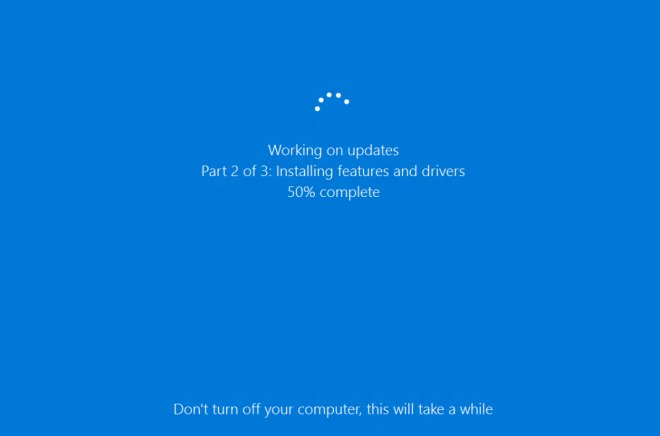 Windows update, Windows 10