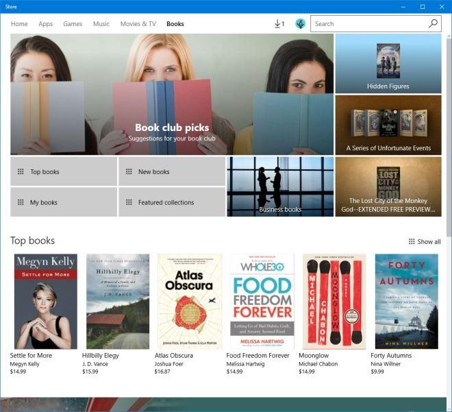 Ebooki w Windows 10