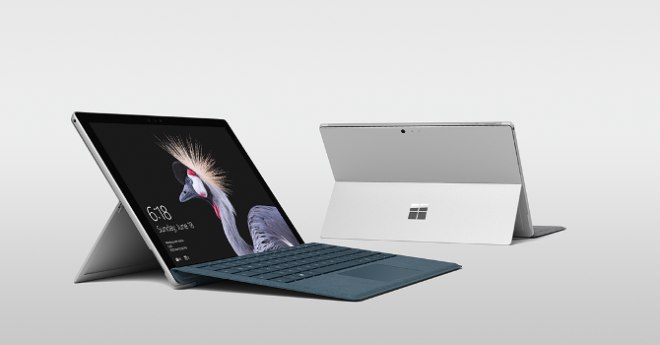 Surface Pro front, back