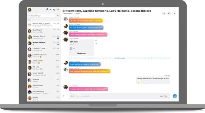 Skype nowy wygląd