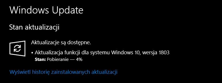 Windows 10 v 1803