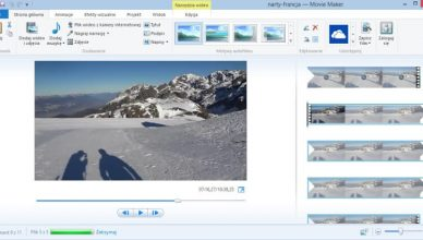 Windows Movie Maker screen