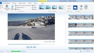 Windows Movie Maker screen