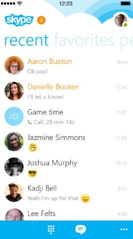 Skype 5 iOS wygląd