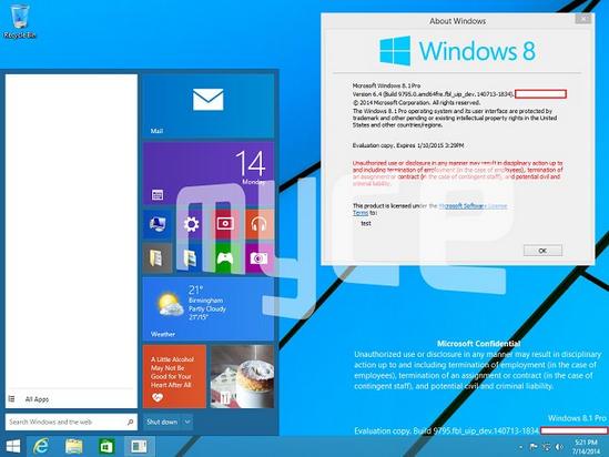 Windows Threshold Menu Start
