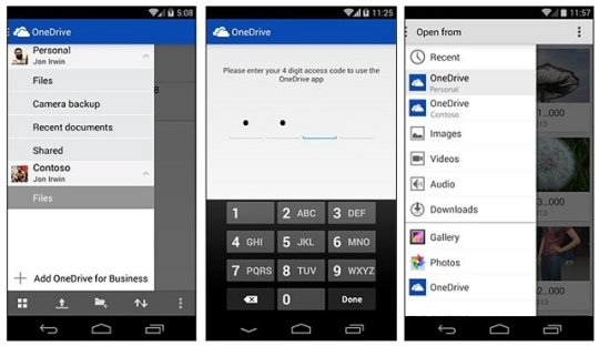 onedrive android