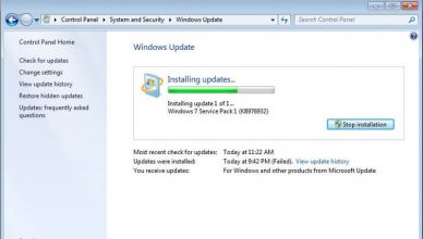 problem z Windows Update