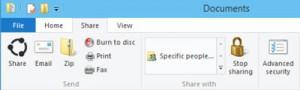 Funkcja Share w Windows 9
