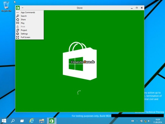 Windows 9 Technical preview 3
