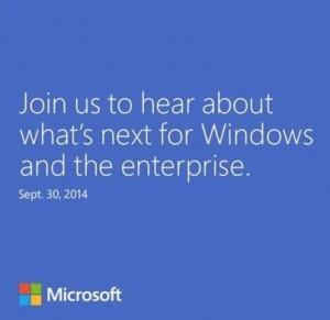 Windows 9 zaproszenie