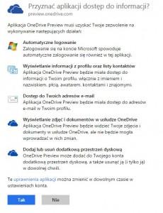 Uprawnienia OneDrive