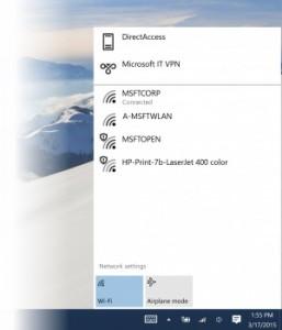 WiFi Settings Windows 10