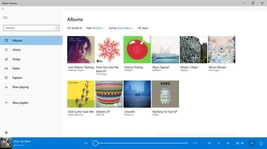 Aplikacja Music dla Windows 10