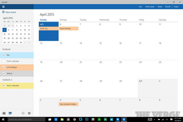 Aplikacja Kalendarz dla Windows 10