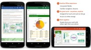 Office Android smartfon thumb