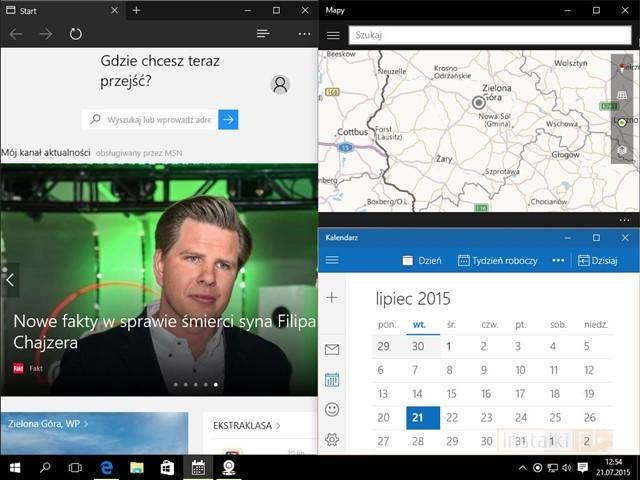 Aplikacje na podzielonym ekranie