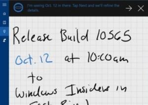 build 10565 Cortana