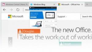 Podgląd kart w Microsoft Edge