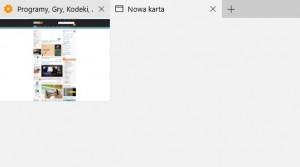 Podgląd otwartych kart w Microsoft Edge
