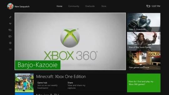 Ekran główny Xbox One