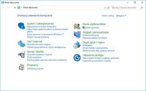 Panel sterowania Windows 10