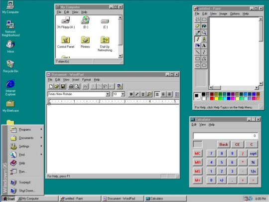 Windows 95 desktop 540 px