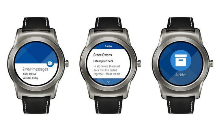 Outlook na zegarki z Android Wear