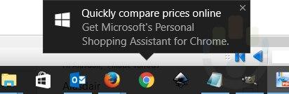 Reklama rozszerzenia dla Google Chrome w Windows 10