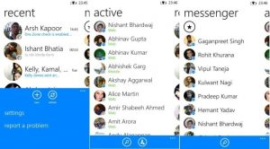 Messenger Windows Phone