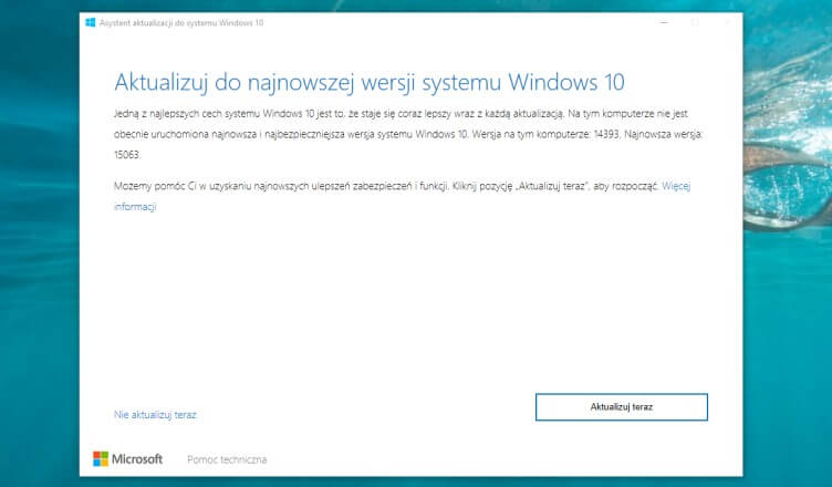 Creators Update instalacja
