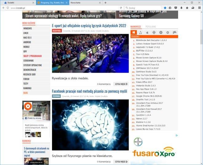 Firefox 53, ciemny motyw