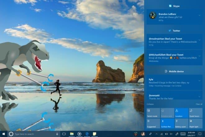 Windows 10 fall creators Panel