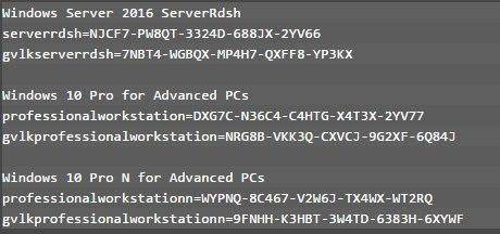 Zrzut z plików konfiguracyjnych Windows 10