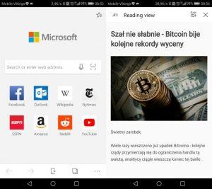 Microsoft Edge na Androida