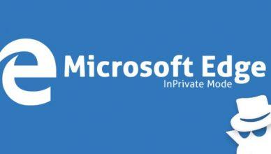 Microsoft Edge inprivate