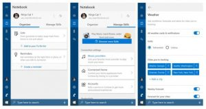 Cortana nowy wygląd