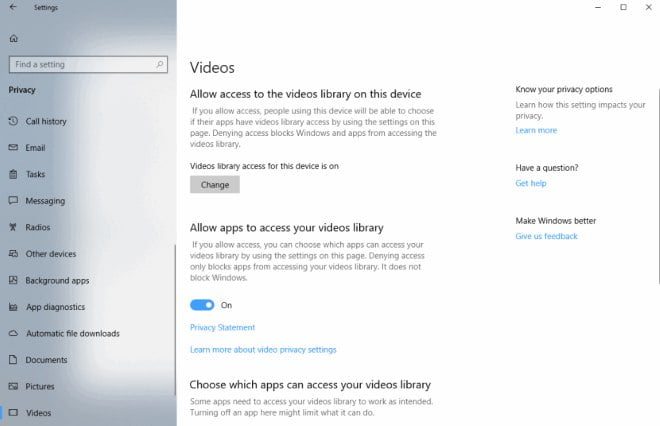 Windows 10 ustawienia prywatności